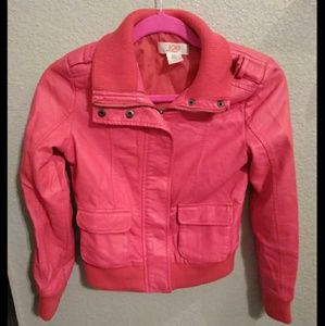 Kids Faux Leather Jacket XL